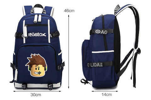 Roblox Backpack With USB charging Port Laptop Bags