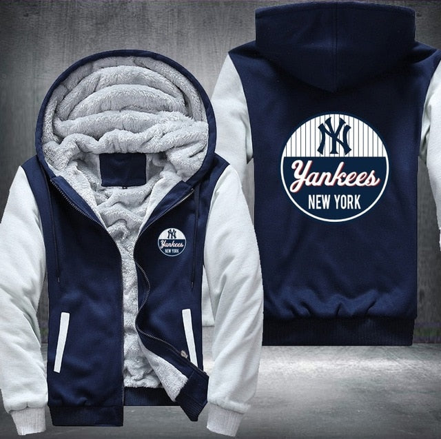 separation shoes f7f83 db66e New York Yankees Fleece Jacket - ThingsCorner