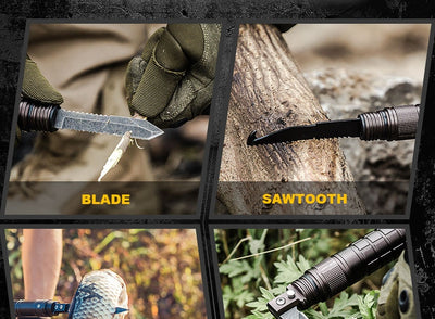 Survival Stick Safety Trekking Multi-Functional Outdoor Camping DIY Self Defense Protection Emergency