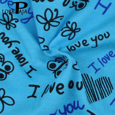 Lot 6 PCS Woman Underwear Cotton Sexy Panties Briefs I LOVE YOU Printed Cute Ladies Knickers Soft Lingerie Intimates for Women