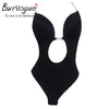Burvogue NEW Sexy Women Backless Shapewear Deep Plunge Body Shaper Invisible Underwear for Dress Clear Strap Bodysuit Shapers