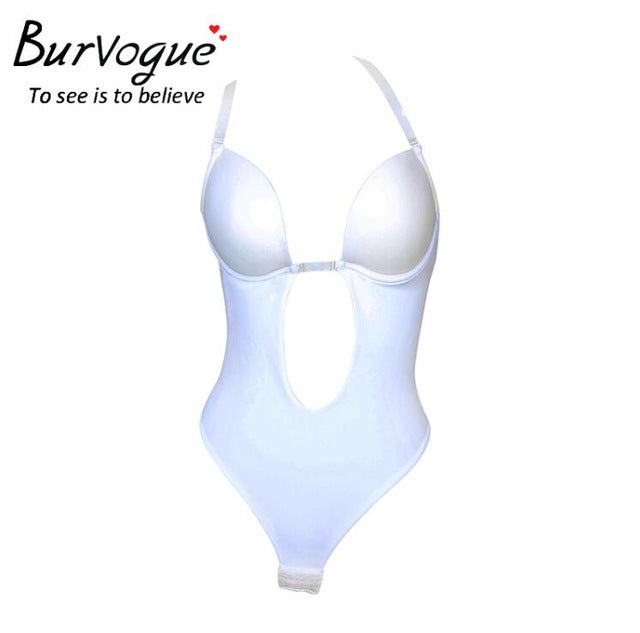 5d98edded Burvogue NEW Sexy Women Backless Shapewear Deep Plunge Body Shaper  Invisible Underwear for Dress Clear Strap