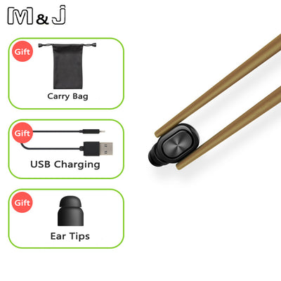 Bluetooth Earphone Stereo Earbuds Hidden Invisible Mini Wireless Headset Small Headphone for Smartphone