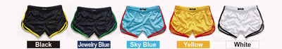 Men's Shorts Fashion Classic Solid Mesh Fast Dry Summer Elastic Waist
