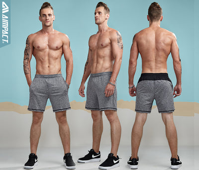 Men's Jogger Shorts Elastic Waist Fitted Leisure Male Trunks Crossfit Sweatshorts