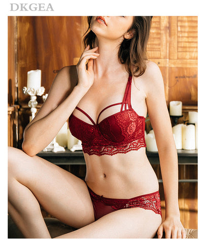 44fe9d1869 New Top Sexy Underwear Set Cotton Push-up Bra and Panty Sets 3 4 Cup ...