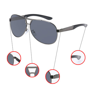 Driving Sunglasses Cool Men's Polarized Brand UV400 Sun Glasses Anti-Reflective Classic Eyewear