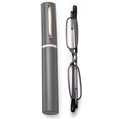 Mini Ultralight Sunglasses Slim Reading Glasses Rimmed Glass Lens Presbyopic Eyeglasses