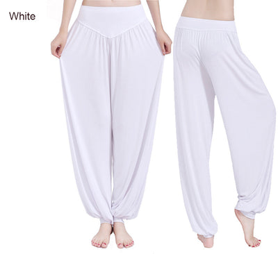 Cotton High Waist Stretch Women Harem Pants Sport Flare Pant Dance Club Boho Trousers Bloomers Pants