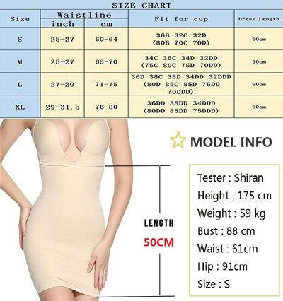 NINGMI Women Slimming Shapewear Sexy U Plunge Wedding Bodysuit Firm Control Body Shaper Waist Trainer Camis Slim Full Slip Dress