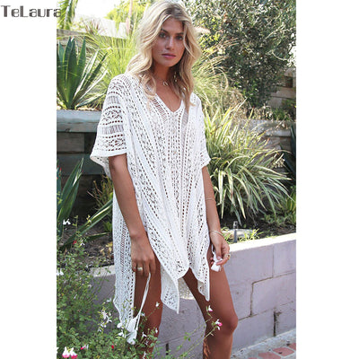 8c36f69d3217d 2018 New Beach Cover Up Bikini Crochet Knitted Tassel Tie Beachwear Summer  Swimsuit Cover Up Sexy