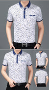 Men Professional T-shirt Short Sleeve Summer Polo Shirt Streetwear Pure Cotton NO.02