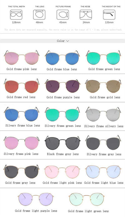 Round Sunglasses Women Brand Designer Vintage Metal Cheap Sun glasses for Female High Quality Glasses Retro Small Circle Eyewear