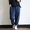 Women Elastic Waist Harem Pants Vintage Striped Casual Loose Long Turnip Baggy Trousers Cargo Pantalon
