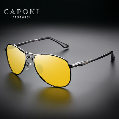 Driving Photochromic Sunglasses Pilot UV400 Night Vision Polarized Discoloration Sun glasses