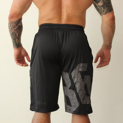 Men's  Shorts Brand Fitness stretch Knee Shorts Professional Breathable Bodybuilding Quick Dry Beach Shorts