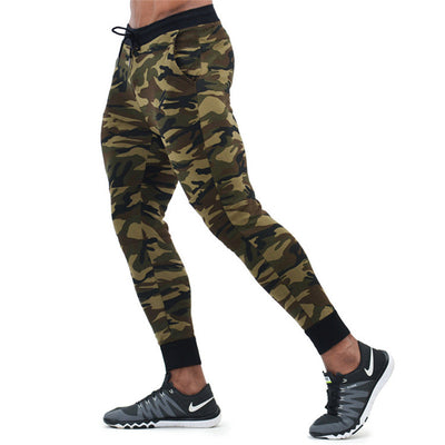 GYMFUCKERY FG New autumn compression long pants men Quick drying Elastic feet camouflage slim men trousers Jogger sweatpants