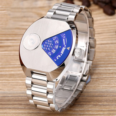 Men's Stainless Steel Quartz Watch Luxury Brand Sports Quartz Waterproof Watch Wristwatch Relojes Hombre