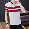 Men Professional T-shirt Short Sleeve Summer Polo Shirt Streetwear Pure Cotton NO.014