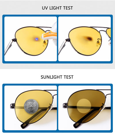 Classic Polit Polarized Photochromin Suunglasses For Night Drive Glasses Day & Night Sun Glasses