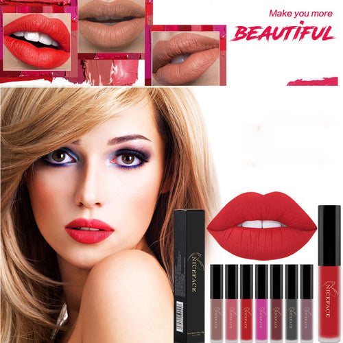 New Lip Lingerie Matte Liquid Lipstick Waterproof Lip Gloss Makeup 4 Shades