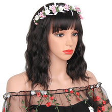 Load image into Gallery viewer, Elegant Synthetic Curly Bob with Bangs Wig