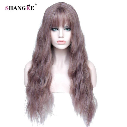 Elegant Long Curly Synthetic Wig 26 inches
