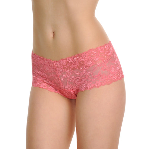 Angelina Crotchless Cheeky Boxers with Floral Lace Design (2-Pack)