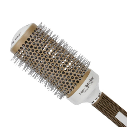 Women Pro Hair Salon Styling Temperature Color Change Ceramic Iron Radial Round Hairdressing Barrel Curler Brushes Comb