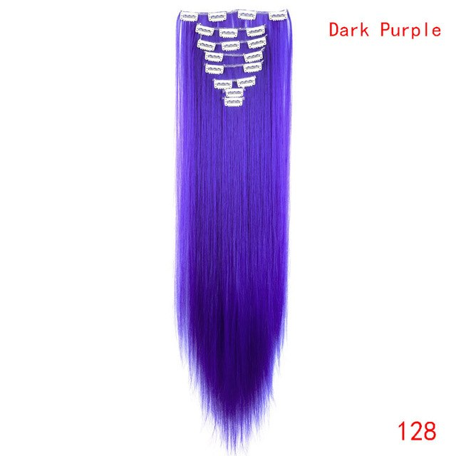 Elegant 26inch Clip In Synthetic Hair Extensions Elegantbeautystore