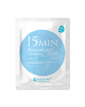 15 MIN Hyaluronic Acid Face Sheet Mask - naisture