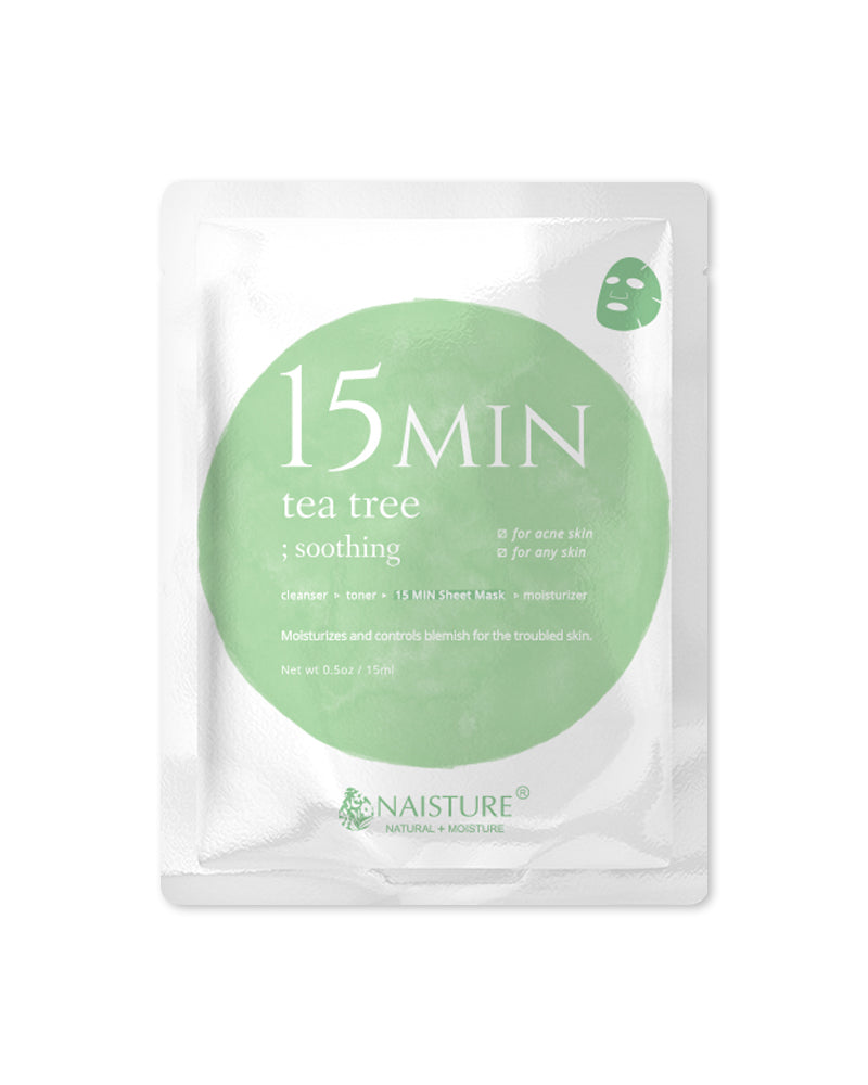 15 MIN Tea Tree Face Sheet Mask