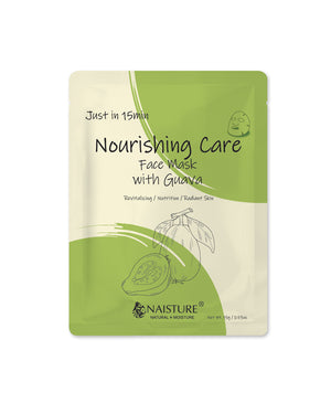 Just in 15 Min Brightening Guava Facial Mask - naisture