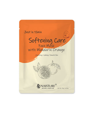 Just in 15 Min Softening Mandarin Facial Mask - naisture