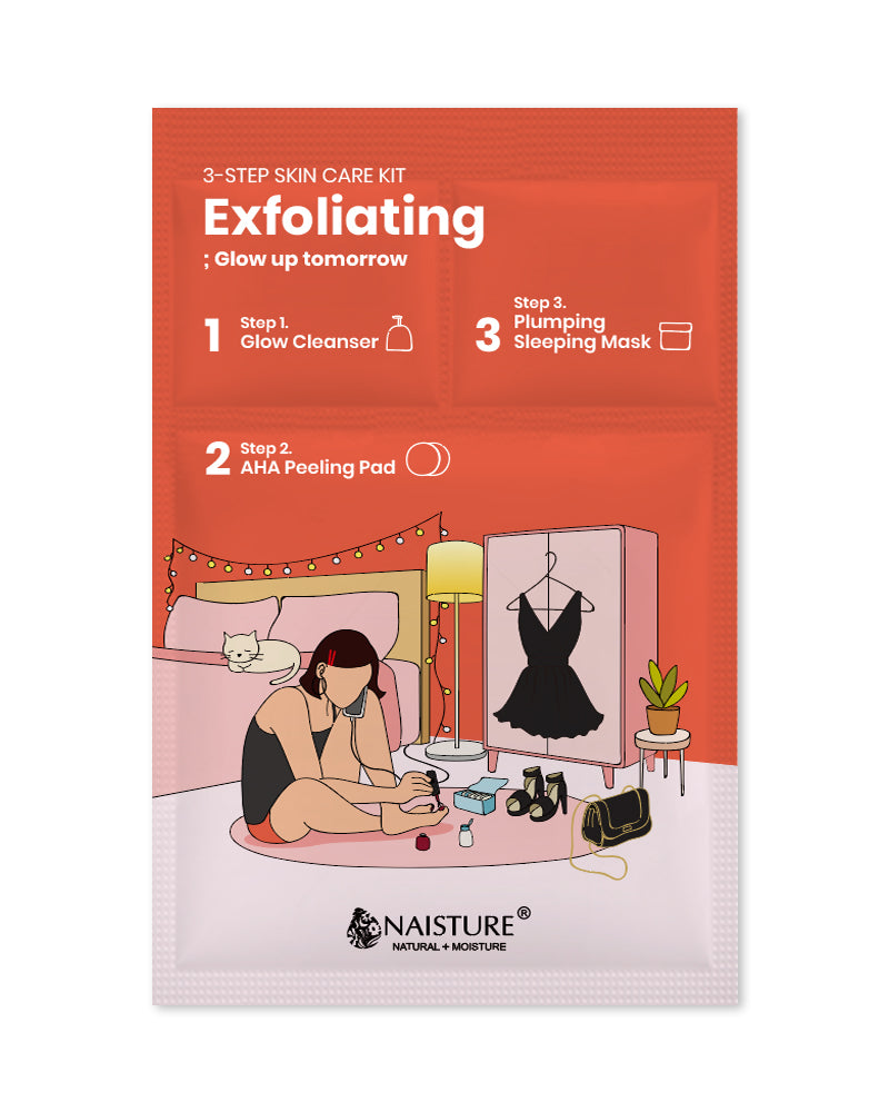 3-Step Skin Care Kit : Exfoliating - Naisture