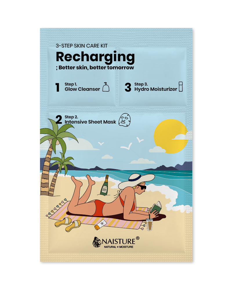 3-Step Skin Care Kit : Recharging - naisture