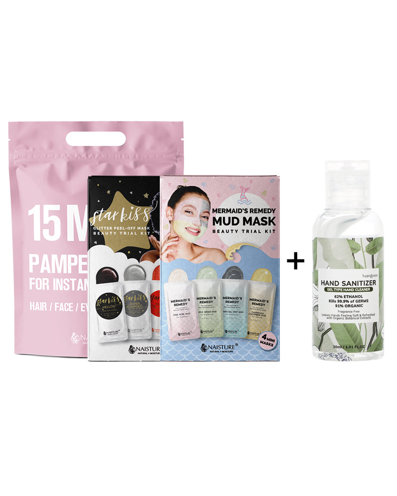 Summer Sleepover Party Kit + Free 30ml Hand Sanitizer - Naisture