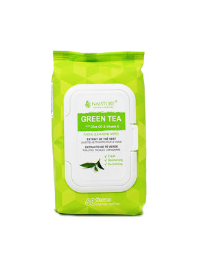Green Tea Facial Cleansing Wipes - Naisture