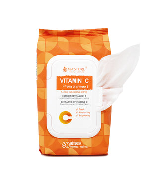 Vitamin C Facial Cleansing Wipes - Naisture