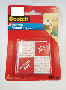 25mm Square  Mounting Tape