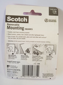 25mm Square  Mounting Tape instructions