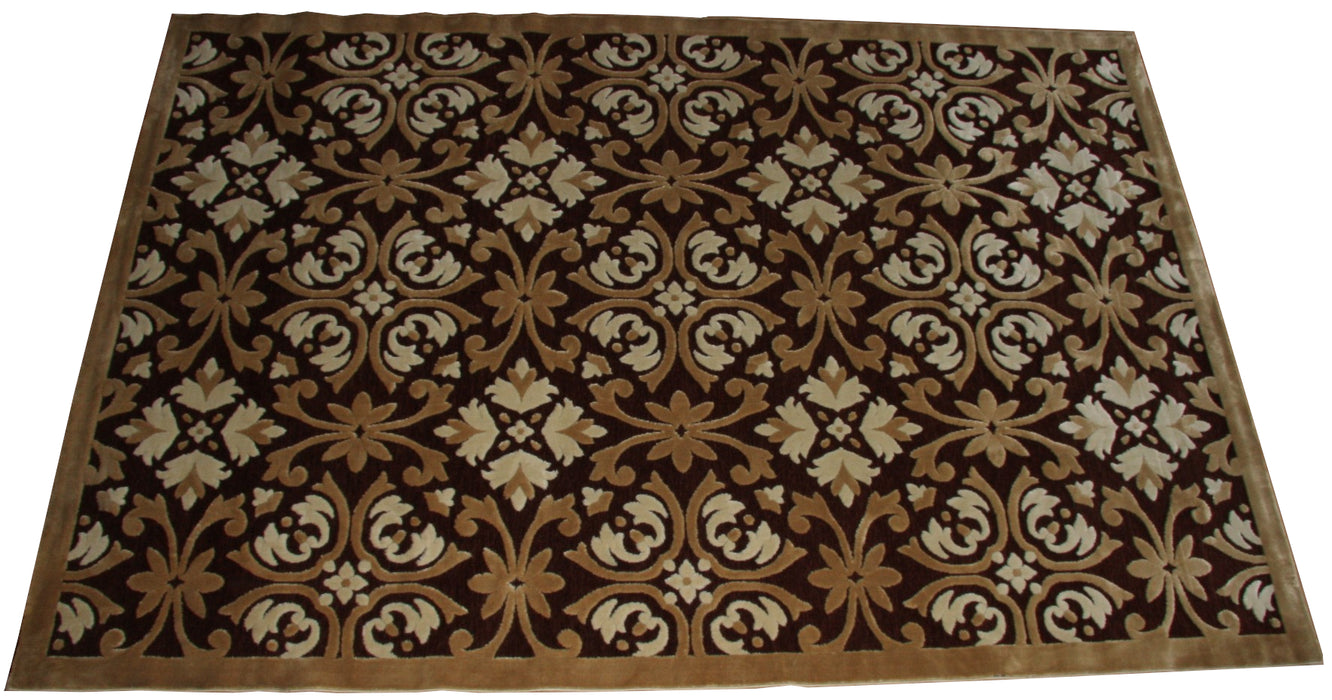Isfahan 213JB Beige A silk modern design rug with traditional know how