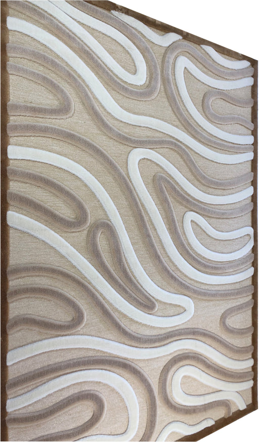 Hadise Modern and Contemporary Curved area Rug made in Turkey 2681