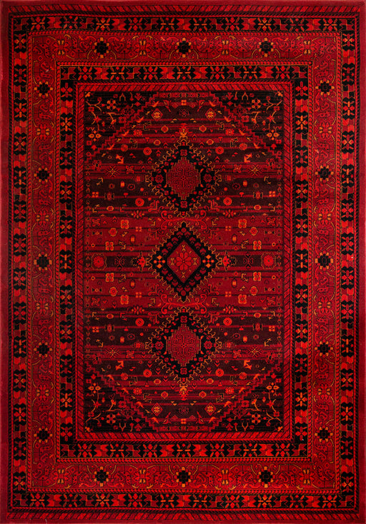 Afghan design red Rug made in Turkey Oriental style 2959