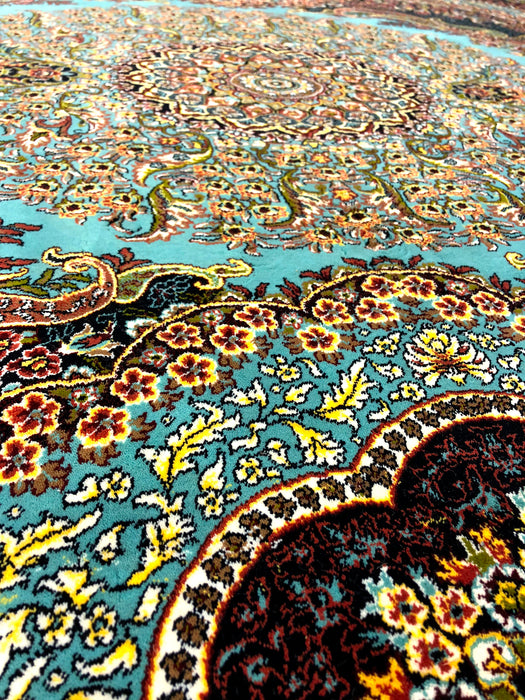Shahkar 3190  Blue Beautiful Turkuaz Persian Rug