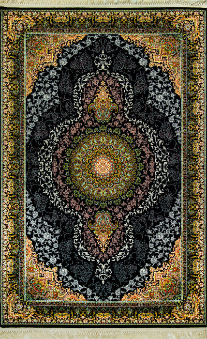 A Shahkar 3997 Black Beauty of Persian Rug Good Density impressive colours