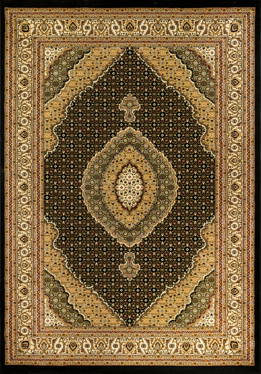 Plaza 7211 Black, Beige, Cream, Red colours made in Turkey, high quality rug.