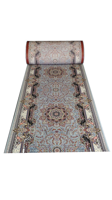 FRINGLESS Persian Shahrazad the princess, high quality & density,  beautiful TURKUAZ designs 11013