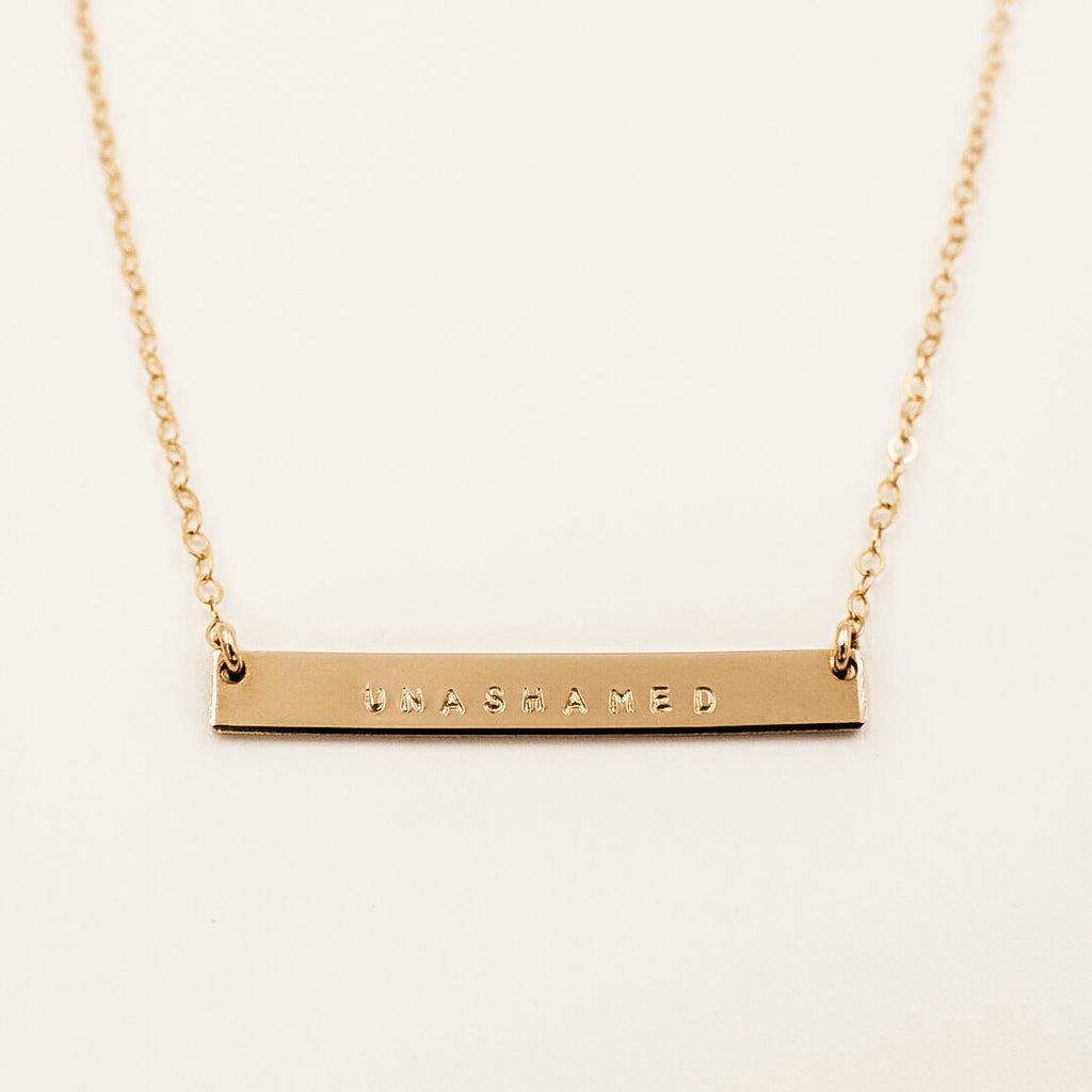 "1 1/4"" Skinny Bar Necklace"