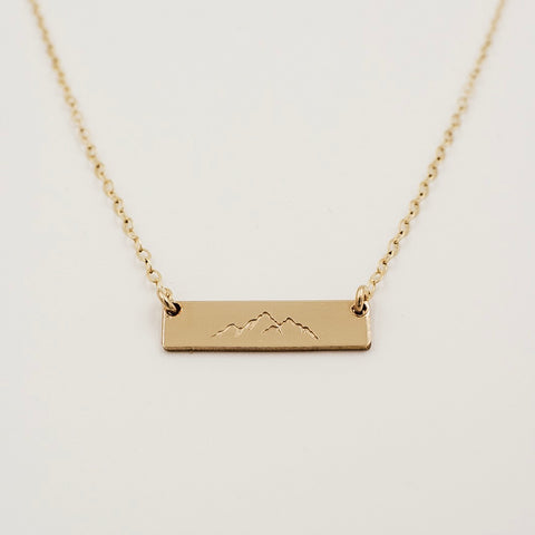"3/4"" Bar Necklace"